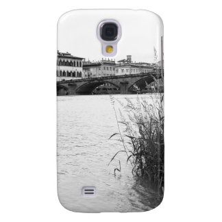 Black and White Florence River Arno Samsung Galaxy S4 Cover