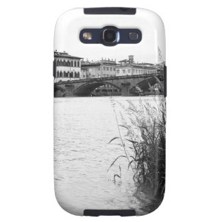 Black and White Florence River Arno Samsung Galaxy SIII Cover