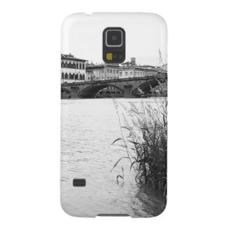 Black and White Florence River Arno Galaxy S5 Case