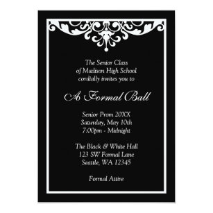 Formal School Dance Invitations Zazzle