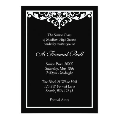 Classic Corporate Gala Event Invitation Zazzle Com
