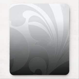 Black and White Flourish Mouse Pad