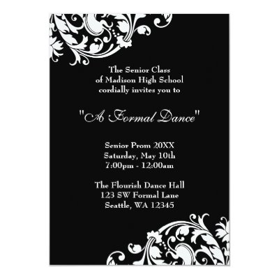 Prom Senior Formal Class 2017 Invitation Zazzle Com