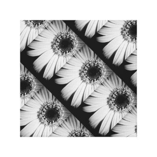 Black and White Flower Canvas Canvas Print