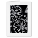 Black and White Flower Card