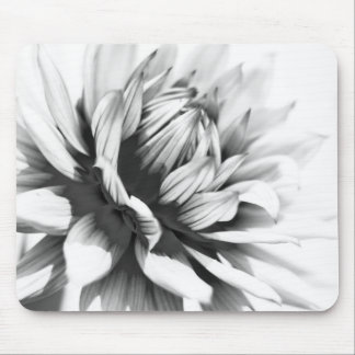 Black and white Flower Close up Mouse Mat Mouse Pad