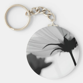 Black and White Flower Keychain