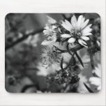 Black and White Flower Mousepad