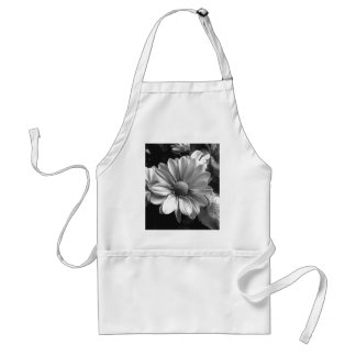 Black and White Flower Photo Adult Apron