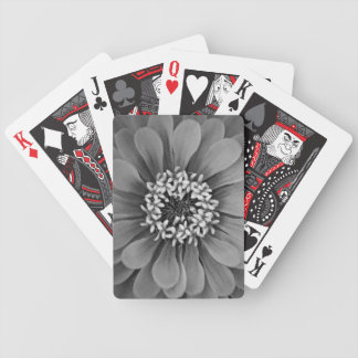 Black and White Flower Photo Bicycle Playing Cards