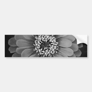 Black and White Flower Photo Bumper Sticker