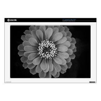 "Black and White Flower Photo Skin For 17"" Laptop"