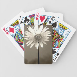 Black and White Flower Photograph Bicycle Poker Deck