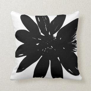 Black White Flower Pillows Decorative Throw Pillows Zazzle