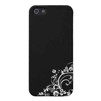 black and white flower Scroll Design iPhone 5 Case