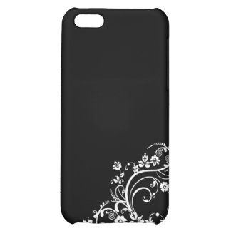black and white flower Scroll Design iPhone 5C Case