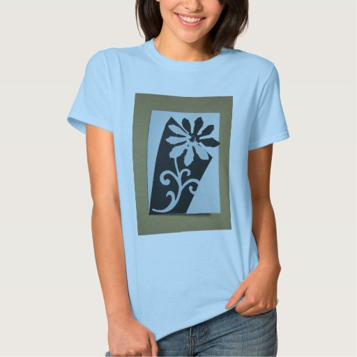 black and white flower shirt