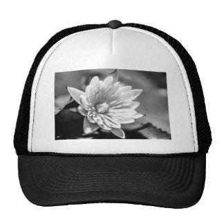 Black and White Flower Trucker Hat