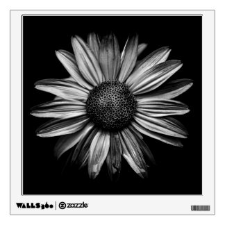 Black And White Flowers 18 Wall Sticker