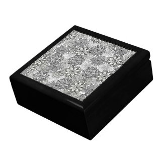 Black and White Flowers Gift Box