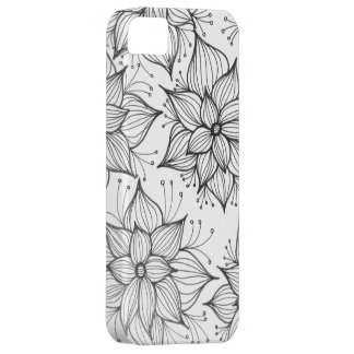 Black and White Flowers iPhone SE/5/5s Case