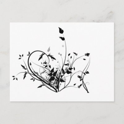 Black And White Flowers Post Card by NixxysPicks. Black And White Flowers