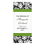 black and white flowers wedding programs rack cards
