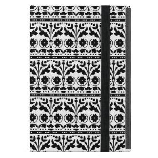 Black and White Folk Art Floral Damask iPad Mini Case