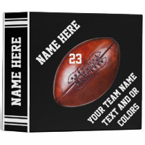 Black and White Football Binder Album PERSONALIZED