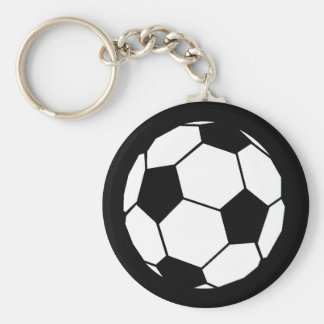 Black and White Football Keychain