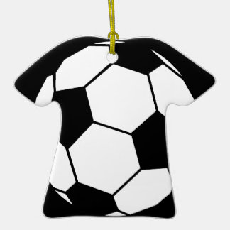 Black and White Football Ceramic T-Shirt Decoration