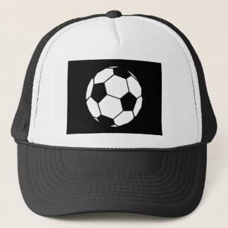 Black and White Football Trucker Hat