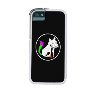 Black and White Fox With a Shocking Pink Tail iPhone 5 Covers