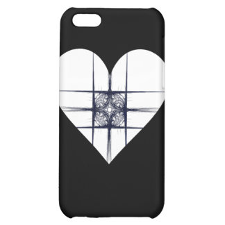 Black and White Fractal Art Heart Cover For iPhone 5C