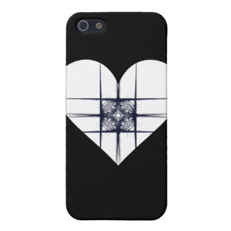 Black and White Fractal Art Heart iPhone 5 Case