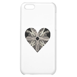 Black and White Fractal Art Heart Shape iPhone 5C Covers