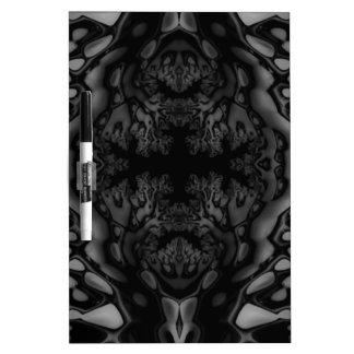 Black and White Fractal/Kaleidoscope Dry-Erase Board