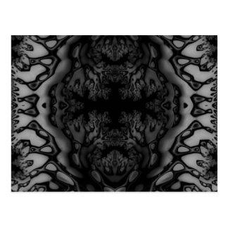 Black and White Fractal/Kaleidoscope Postcard