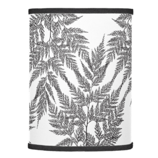 Black and White Fragile Fern Silhouette