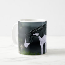 Black and White Frame Overo Paint Horse Coffee Mug