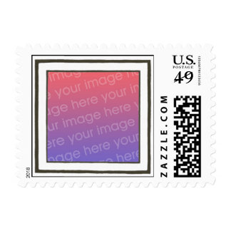 Black and white frame, your photo postage stamps