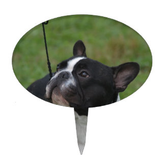 Black and White French Bulldog Cake Toppers