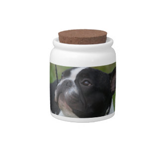 Black and White French Bulldog Candy Dishes