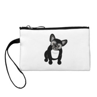 Black and White French Bulldog Coin Wallet