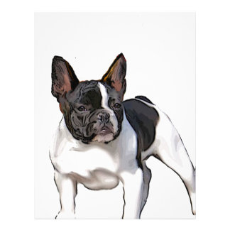 BLACK AND WHITE FRENCH BULLDOG LETTERHEAD