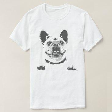 laughingdesigns Black and White French Bulldog Men's T-Shirt