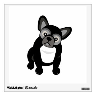 Black and White French Bulldog Wall Sticker