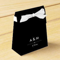 Black and White French Couture Inspired Wedding Favor Box