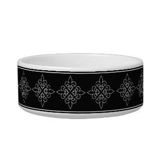 Black and White French Fleur De Lis Design Bowl