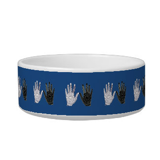 Black and White Friendship Hands Bowl